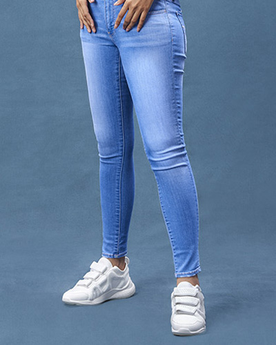 Women Cotton Jeans In Bhiwandi