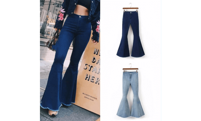 Women Bell Bottom Jeans In Dubai