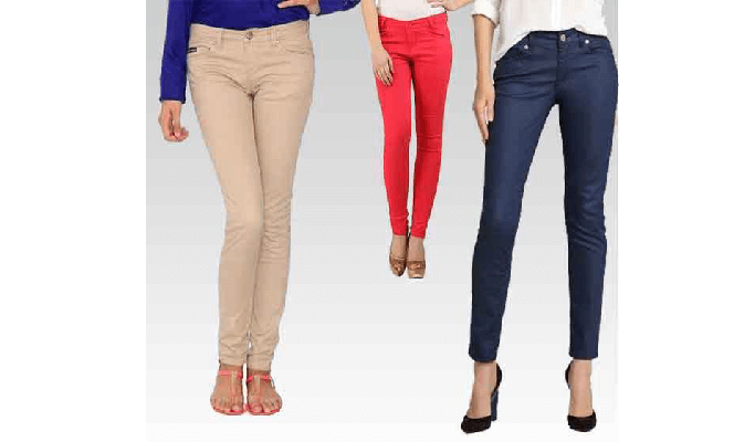 Women Cotton Jeans In Surat